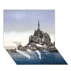 Le Mont St Michel 2 Love Bottom 3d Greeting Card (7x5)  by trendistuff