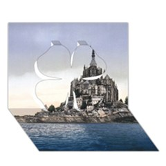 Le Mont St Michel 2 Clover 3d Greeting Card (7x5)  by trendistuff