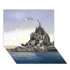 Le Mont St Michel 2 Circle 3d Greeting Card (7x5)  by trendistuff