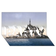 Le Mont St Michel 2 Party 3d Greeting Card (8x4)  by trendistuff