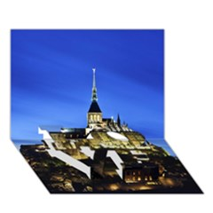 Le Mont St Michel 1 Love Bottom 3d Greeting Card (7x5)  by trendistuff