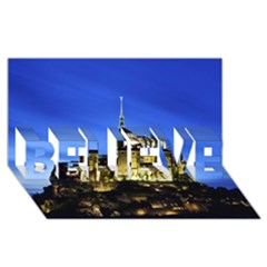 Le Mont St Michel 1 Believe 3d Greeting Card (8x4)  by trendistuff