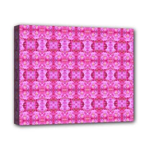 Pretty Pink Flower Pattern Canvas 10  x 8