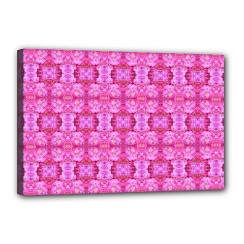 Pretty Pink Flower Pattern Canvas 18  X 12  by Costasonlineshop