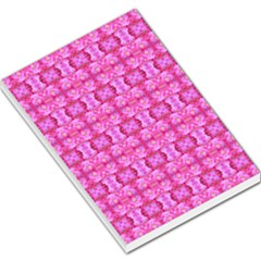 Pretty Pink Flower Pattern Large Memo Pads