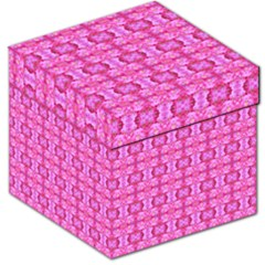 Pretty Pink Flower Pattern Storage Stool 12