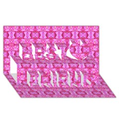 Pretty Pink Flower Pattern Best Friends 3D Greeting Card (8x4)