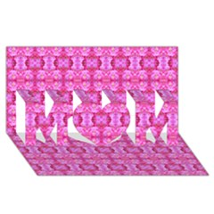 Pretty Pink Flower Pattern MOM 3D Greeting Card (8x4)