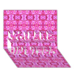 Pretty Pink Flower Pattern YOU ARE INVITED 3D Greeting Card (7x5)