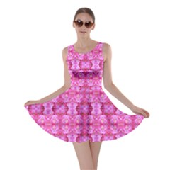 Pretty Pink Flower Pattern Skater Dresses