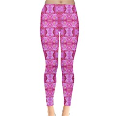 Pretty Pink Flower Pattern Women s Leggings