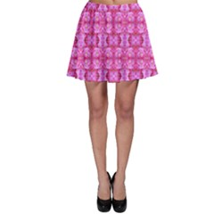 Pretty Pink Flower Pattern Skater Skirts