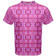Pretty Pink Flower Pattern Men s Cotton Tees