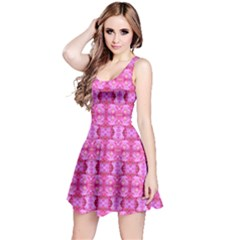 Pretty Pink Flower Pattern Reversible Sleeveless Dresses
