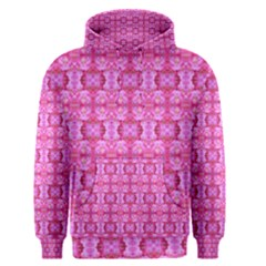 Pretty Pink Flower Pattern Men s Pullover Hoodies