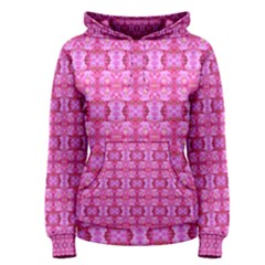 Pretty Pink Flower Pattern Women s Pullover Hoodies