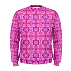Pretty Pink Flower Pattern Men s Sweatshirts