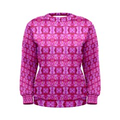 Pretty Pink Flower Pattern Women s Sweatshirts
