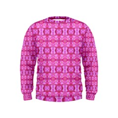 Pretty Pink Flower Pattern Boys  Sweatshirts