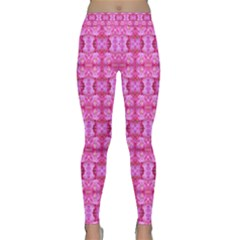 Pretty Pink Flower Pattern Yoga Leggings