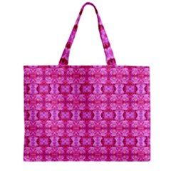 Pretty Pink Flower Pattern Zipper Tiny Tote Bags
