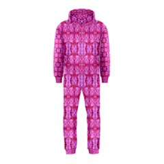 Pretty Pink Flower Pattern Hooded Jumpsuit (Kids)