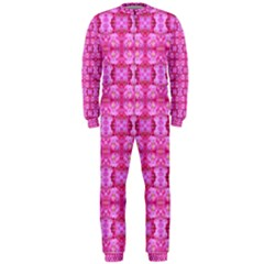 Pretty Pink Flower Pattern OnePiece Jumpsuit (Men)