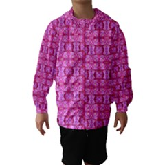 Pretty Pink Flower Pattern Hooded Wind Breaker (Kids)