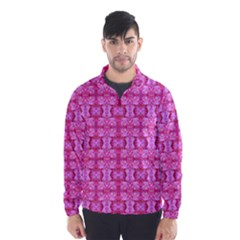 Pretty Pink Flower Pattern Wind Breaker (Men)