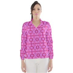 Pretty Pink Flower Pattern Wind Breaker (Women)