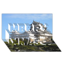 Himeji Castle Merry Xmas 3d Greeting Card (8x4)  by trendistuff