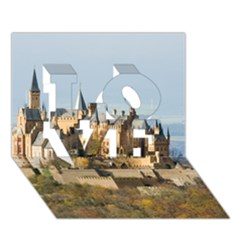 Hilltop Castle Love 3d Greeting Card (7x5)  by trendistuff