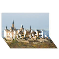 Hilltop Castle Engaged 3d Greeting Card (8x4)  by trendistuff