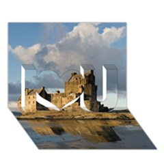 Eilean Donan Castle I Love You 3d Greeting Card (7x5)  by trendistuff