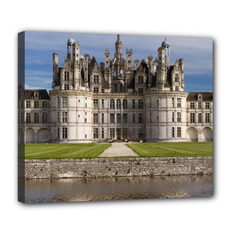 Chambord Castle Deluxe Canvas 24  X 20   by trendistuff