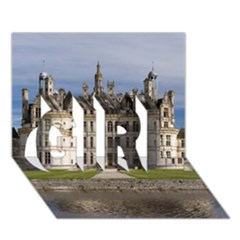Chambord Castle Girl 3d Greeting Card (7x5)  by trendistuff