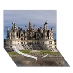 Chambord Castle Heart Bottom 3d Greeting Card (7x5)
