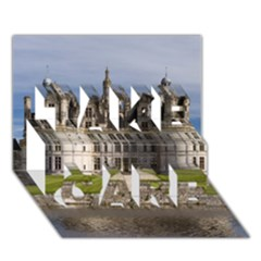 Chambord Castle Take Care 3d Greeting Card (7x5)  by trendistuff
