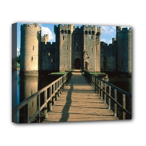 Bodiam Castle Deluxe Canvas 20  X 16   by trendistuff