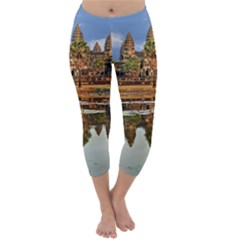 Angkor Wat Capri Winter Leggings