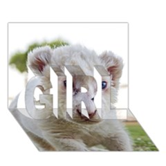 White Lion Cub Girl 3d Greeting Card (7x5)  by trendistuff