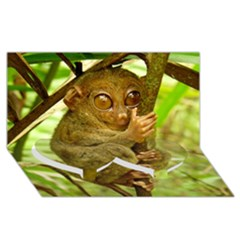 Tarsier Twin Heart Bottom 3d Greeting Card (8x4)  by trendistuff