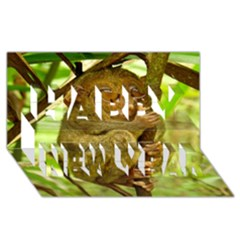 Tarsier Happy New Year 3d Greeting Card (8x4)