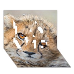 Leopard Laying Down Love 3d Greeting Card (7x5)  by trendistuff