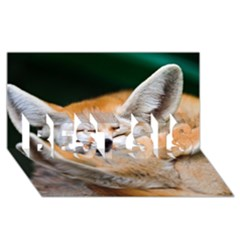 Baby Fox Sleeping Best Sis 3d Greeting Card (8x4)  by trendistuff
