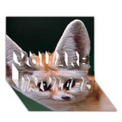 Baby Fox You Are Invited 3d Greeting Card (7x5)  by trendistuff