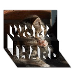 Talk To The Paw Work Hard 3d Greeting Card (7x5)  by trendistuff