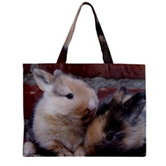 Small Baby Rabbits Zipper Tiny Tote Bags by trendistuff