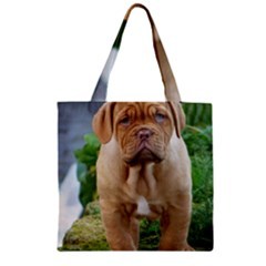 Cute Wrinkly Puppy Zipper Grocery Tote Bags