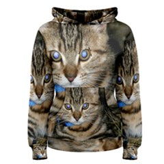 Blue Eyed Kitty Women s Pullover Hoodies